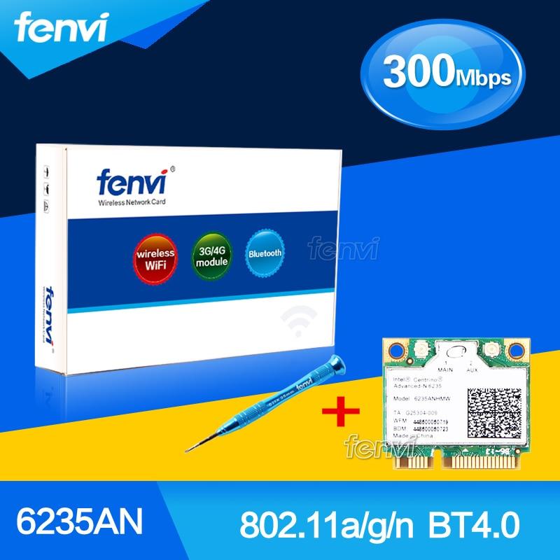 NEW Dual band 300Mbps Wifi Bluetooth Card for Intel Centrino Advanced-N 6235 6235AN Wireless-N Half Mini PCI-E 5Ghz Wlan+BT 4.0