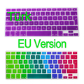 "Turkish For Apple Macbook Keyboard Cover 13"" 15"" 17"" Rainbow Laptop Keyboard Stickers EU Version Silicone Skin Protector Covers"