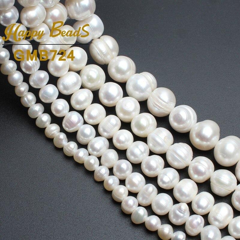 Perlas redondas perlas blancas de agua dulce natural para hacer la - Bisutería - foto 4