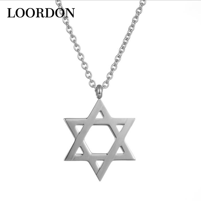 Loordon stainless steel israel jewish jewelry necklace star of david cross pendant necklace with free gift bag in pendant necklaces from jewelry loordon stainless steel israel jewish jewelry necklace star of david cross pendant necklace with free aloadofb Gallery