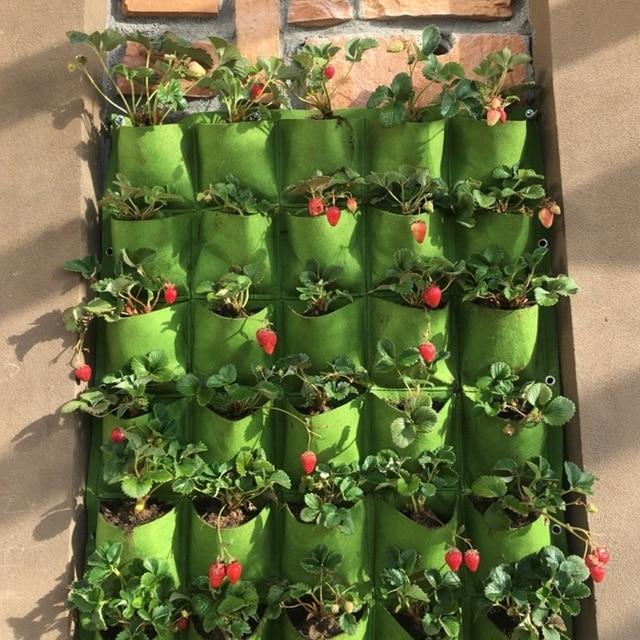 Outdoor 9 Pocket Indoor Balcony Herb Vertical Garden Wall ...