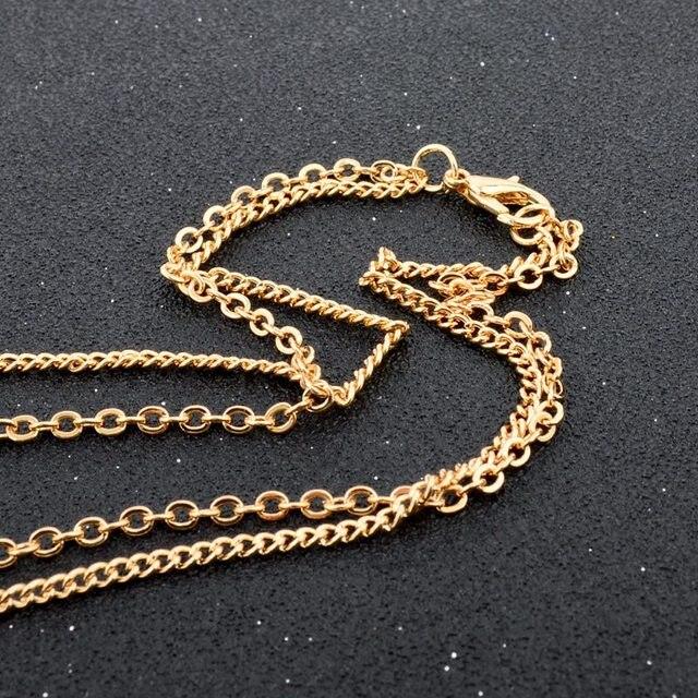 Купить toucheart золотая подвеска эффектные длинные регулируемые полые картинки