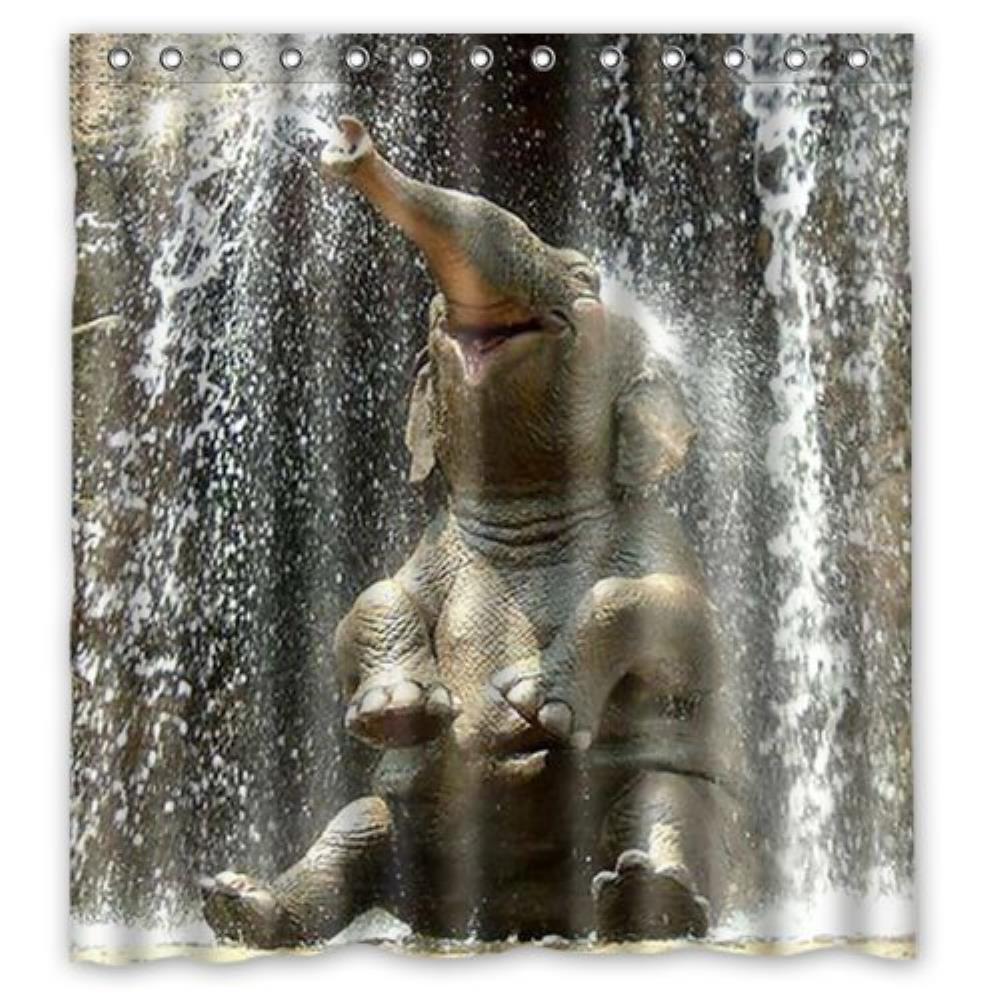 elephant Custom Shower Curtain Pattern Waterproof Fabric Shower Curtain For Bathroom 66*72inch