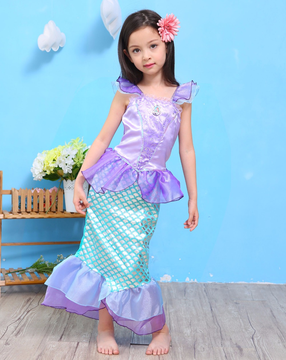 Fashion 2017 party dresses for little girls birthday short sleeve ...