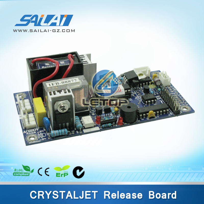 Take up system release board for crystaljet large format printer