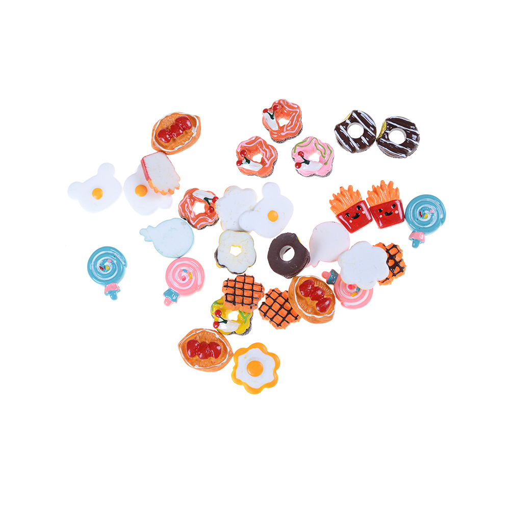 5pcs Craft Mini Dollhouse Decor For Micro Landscape DIY Landscaping Poached Eggs Food Ornament Simulation Toys