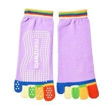 Hot Sale Women Toe Socks Acrylic Non-Slip Pilates Socks 5 Toe Exercise Fitness Cotton Socks