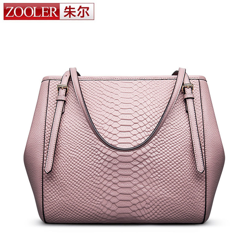 ZOOLER New Arrival Crocodlie Pattern Genuine Leather Women Bag Handbag Famous Brand High Quality Cowhide Tote Bag bolsa feminina dream 2016 new arrival plaid cowhide handbag women s bag