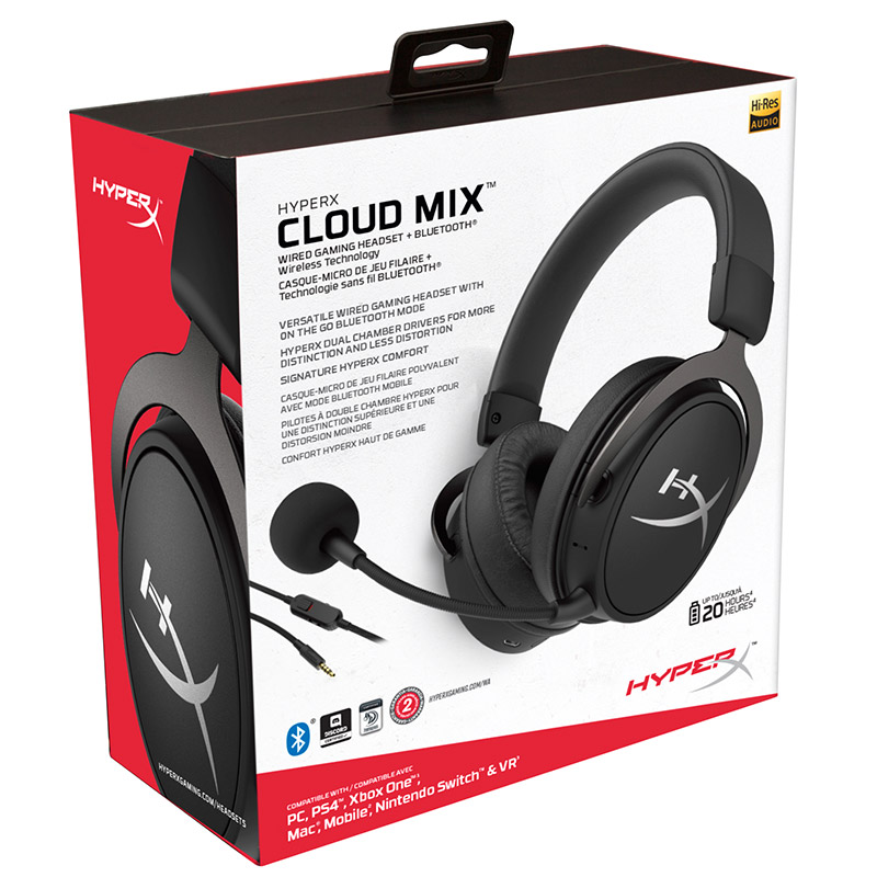 Kingston Hyperx Cloud Mix Cable Gaming Headset Built In Mic And A