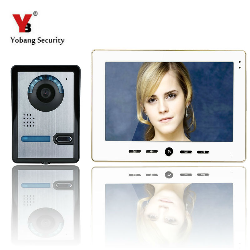 YobangSecurity 1 Camera 1 Monitors 10 Video Intercom Visual Doorbell Kits Door Phone System IR Night Vision Hands Free intercom yobangsecurity 1 camera 1 monitors 10 video intercom visual doorbell kits door phone system ir night vision hands free intercom