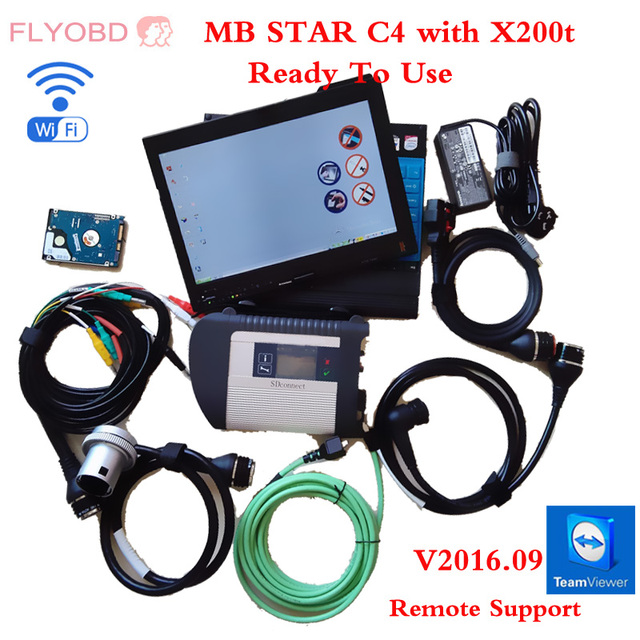 03/2017 MB SD CONNECT C4 Star Diagnosis System with Vediamo with X200T Diagnostic PC for MB STAR C4 Xentry Diagnostics Tool