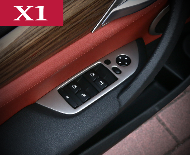 a64be940ba6 For BMW X1 E84 Inner Accessories Trim Left Hand Drive Door Window Switch  Button Cover Frame Car styling 3D stickers 2010 2015-in Car Stickers from  ...