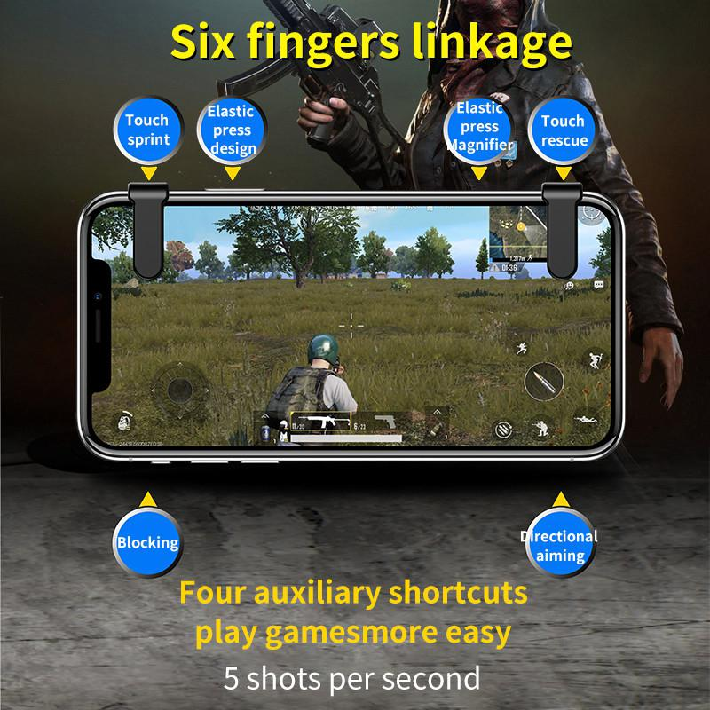 Image 4 - Pubg Mobile Gamepad Pubg Controller for Phone L1R1 Grip with Joystick / Trigger L1r1 Pubg Fire Buttons for iPhone Android IOS-in Gamepads from Consumer Electronics