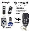 2 шт. Normstahl Carwford EA433 2KS/RCU433-4/N002800/EA433 2 км микро/T433-4 пульт дистанционного управления код прокатки 433 92 МГц