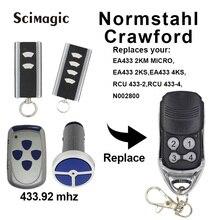 2 pces normstahl carwford ea433 2ks/RCU433 4/n002800/ea433 2 km micro/T433 4 controle remoto código de rolamento 433.92 mhz
