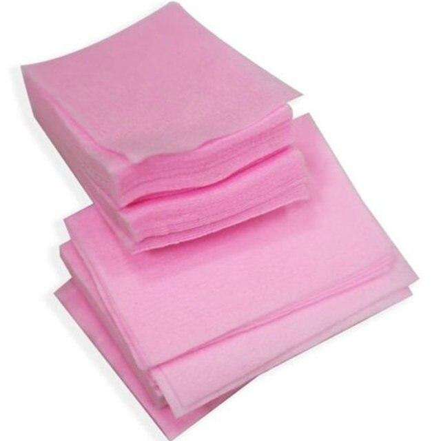 Venta caliente 100 piezas de limpieza Simple envolturas removedor de esmalte de uñas limpiador de manicura toallitas pelusas de algodón almohadilla de papel para uñas color al azar