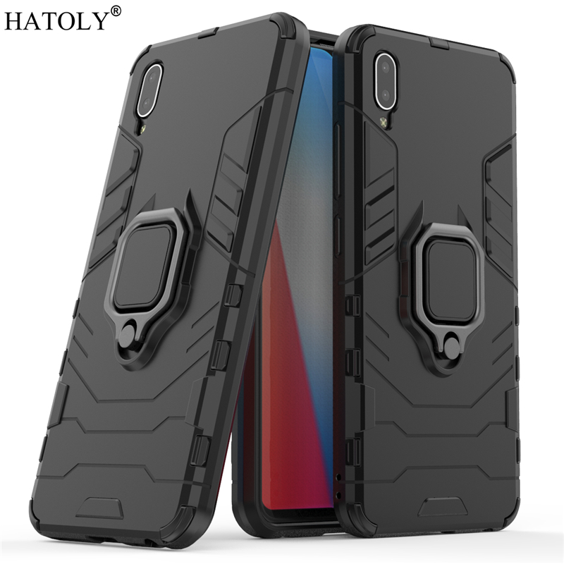 Vivo Y93 Case Cover for Vivo Y93 Magnetic Finger Ring Phone Case Shell Bumper Protective Hard PC Armor Case For Vivo Y93