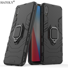 Vivo Y93 Case Cover for Magnetic Finger Ring Phone Shell Bumper Protective Hard PC Armor For