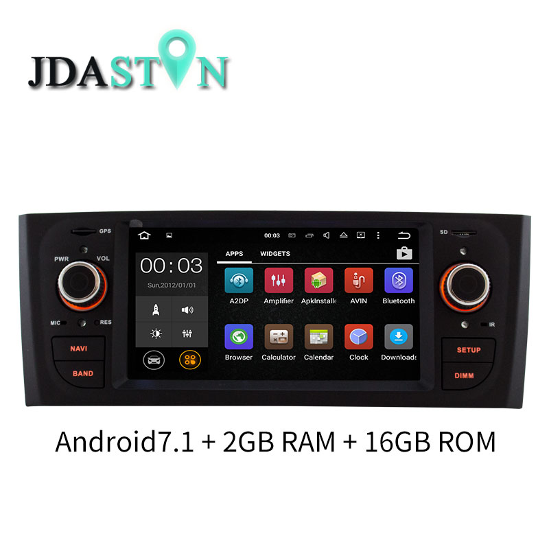 JDASTON 1 Din Android Car Multimedia Player For Fiat PUNTO 2005 2009 fiat Linea 2007 2011 GPS Navigation Radio Stereo Headunit