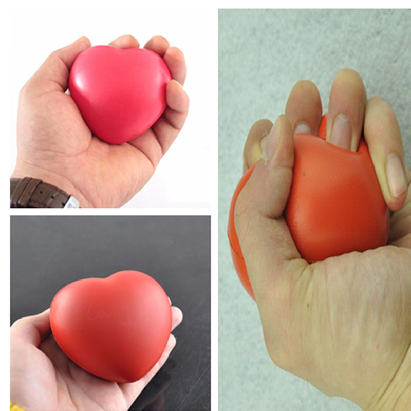 Stress Relief Toy 7cm Kawaii Squishy Heart Shaped Funny Soft Foam Ball Stress Relief Squeeze Hand Wrist Soft Foam Vent Balls 1pc Soft And Light Toys & Hobbies