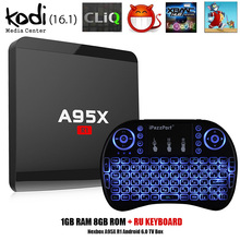 A95X R1 Android 5.1 TV Box Rockchip RK3229 quad-core 1 ГБ 8 ГБ Smart TV Box HDMI 2.0 4 К x 2 К HD 2.4 г Wi-Fi Set Top Box мультимедийных проигрывателей