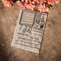 DIY photo album / scrapbook silicone stamp / seal decorative clear stamps daily necessities YJ6624