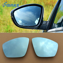 smRKE 2Pcs For Peugeot 408 Rearview Mirror Blue Glasses Wide Angle Led Turn Signals light Power Heating