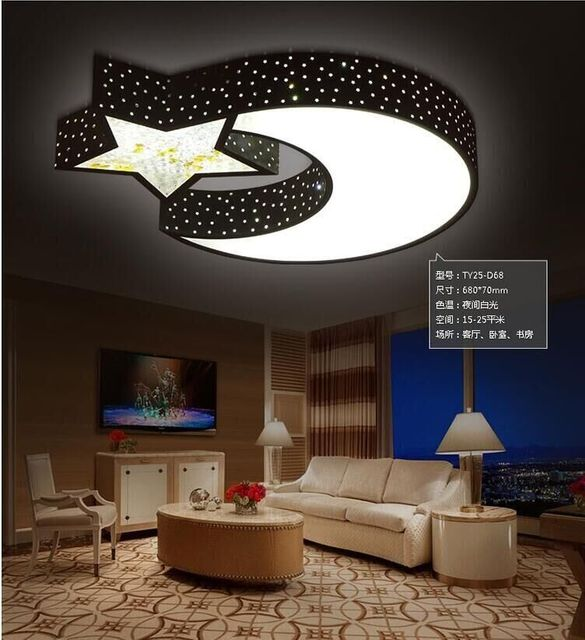 Ceiling lamp creative warm stars moon boys and girls bedroom led ceiling lamp creative warm stars moon boys and girls bedroom led ceiling romantic crystal remote control mozeypictures Gallery