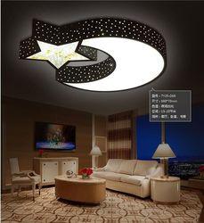 Lampa sufitowa kreatywny ciepłe gwiazdy księżyc chłopców i dziewcząt sypialnia oświetlenie sufitowe LED romantyczny kryształ pilot kolor w Oświetlenie sufitowe od Lampy i oświetlenie na