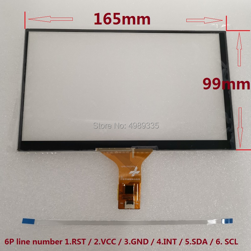 7-inch Capacitive Touch Screen 165X99mm IIC6P Interface For Android Raspberry Pi System