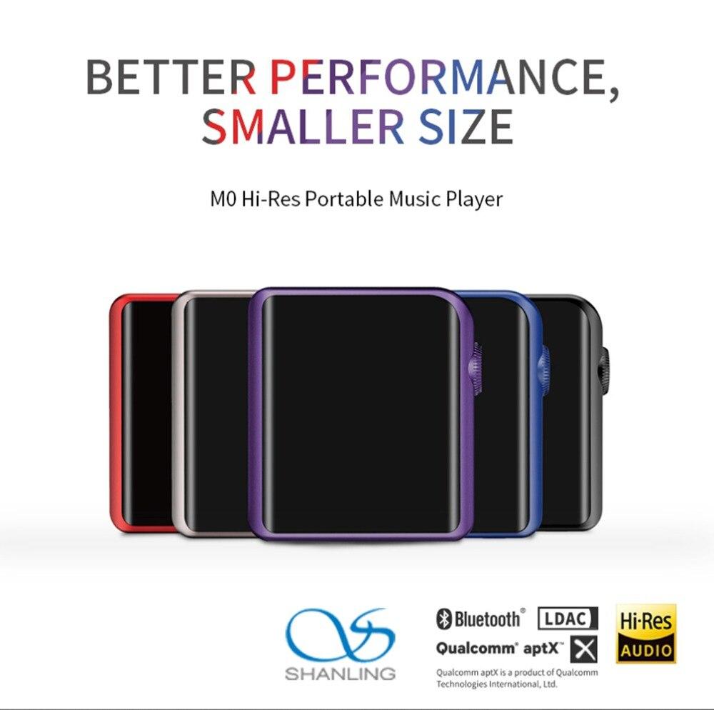 SHANLING M0 Mini Salut-Res Portable MP3 Lecteur Bluetooth AptX ES9218P 32bit 384 khz FLAC WAV WMA DAP DSD hifi Lecteur de Musique Sans Perte