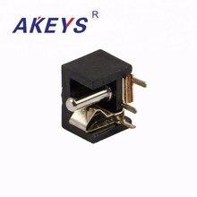 20PCS DC-010 3 pins PCB Mount Black Female DC Power Jack Socket audio jack