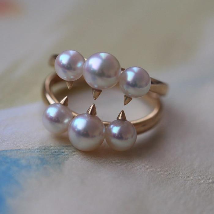 Mariage éternel femmes cadeau mot 925 Sterling réel grands compteurs Seiko, avec, japon Akoya, anneau de perle d'eau de mer naturelle