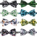 2017 Men Adjustable Satin Wedding Ties 3D Printing Tuxedo Formal Party Novelty Bow Tie Necktie Bowties hombre noeud papillon