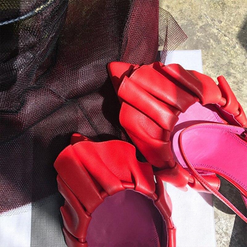 Mouton Femme as Peu Été Bout Parti As Pics Chaussures Profonde En Pics Ruches Hot 2018 De Pompes Designer Hauts Peau Pointu Talons Printemps vN8wmn0