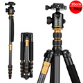 Hot QZSD Q666C Carbon Fiber Tripod Camera Portable Traveling Tripod For Camera Ball Head Monopod Digital Camera Tripod