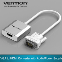 Vention VGA To HDMI Converter Cable Adapter With Audio 1080P VGA HDMI Adapter For PC Laptop