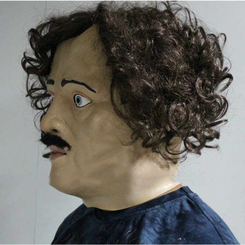 2018 Экологичная Роскошная качественная маска для хеллоуина из латекса Edgar Allan Poe