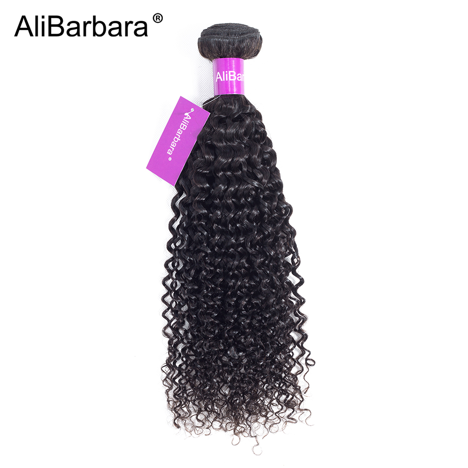 Alibarbara Hair Malaysian Kinky Curly Hair Weave Bundles Natural Color Remy Human Hair Bundle 1 Piece 8-28inch Can buy 3or 4 pcs ...