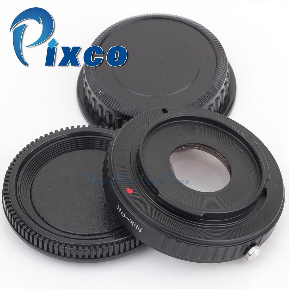 Pixco Optical Infinity Mount Adapter Ring  Suit For Nikon AF-S AI F Lens to Pentax K  K-5 II K-30 K-01 K-5 K-r K-x K-7 Camera