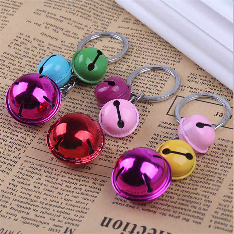 new creative three bell keychain for bag phone hanging car metal key holder key rings gifts souvenir women girls fashion jewelry