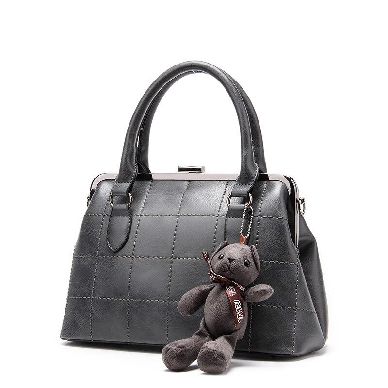 проиграны бренд модная женская сумочка с маленьким медведем, дизайнер сумок высокого качества серая сумочка для женщин, сумка через плечо из искуственной кожи