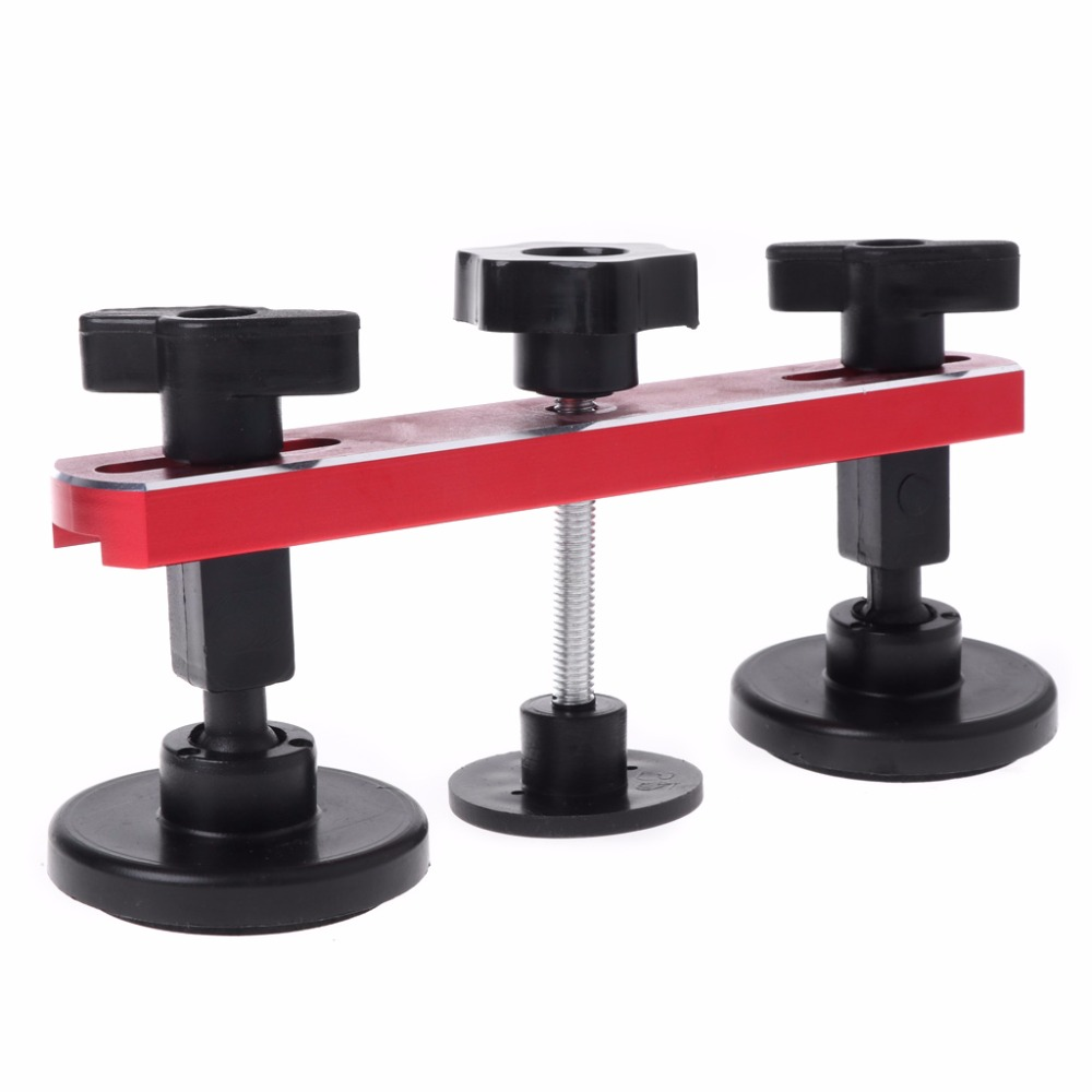 OOTDTY 1 Set PDR Paintless Dent Repair Puller Bridge Auto Body Dent Removal w/ 5 Puller Tabs