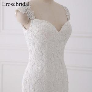 Image 4 - Seksi Illusion düğün elbisesi 2018 Erosebridal Bir Çizgi Bohemian düğün elbisesi es Fermuar Geri Zarif Sevgiliye Vestido De Noiva