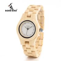 BOBO BIRD V O10 Ladies Luxury Watches Bamboo Wooden Fashion Unique Women Quartz Watch relogio feminino with Diamond