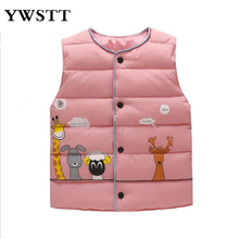 Kids Vest For Girl Waistcoat Children Outerwear baby clothes Girls Outerwear Jackets Cotton Warm Kids Vest For 3-8Years cheap Outerwear Coats Ywstt78747 Polyester Unisex Fits true to size take your normal size O-Neck REGULAR cartoon thick Woven