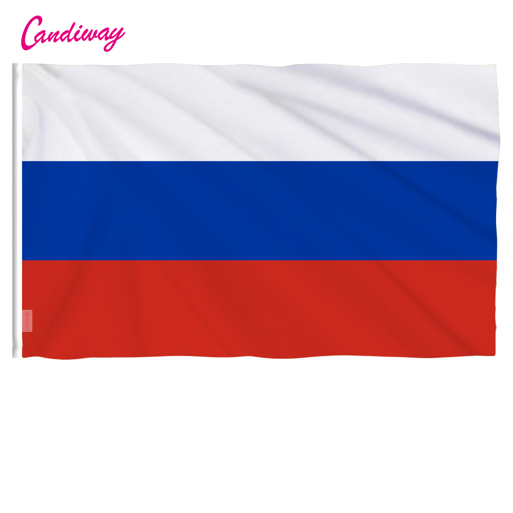 oriflamme  90x150CM Wave Russia 3x5 Feet Super-Poly Indoor/Outdoor Russian FLAG Country Banner Christmas's gifts