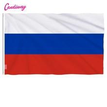 Oriflamme bandeira russa 90x150mm, onda de rússia com 3x5 pés, super poly, área interna/externa, bandeira russa presentes do natal