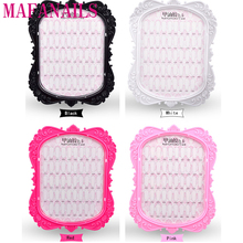 Double-sided 1Pc Nail Art Display Nail Gel Polish Color Card Display Tool Flower Pattern Manicure Nail Art Display Stand 48Tips 1sheet 25color silicone gel polish display 8 5 10cm white color card diy nail art practice display card diy nail art salon ctd25