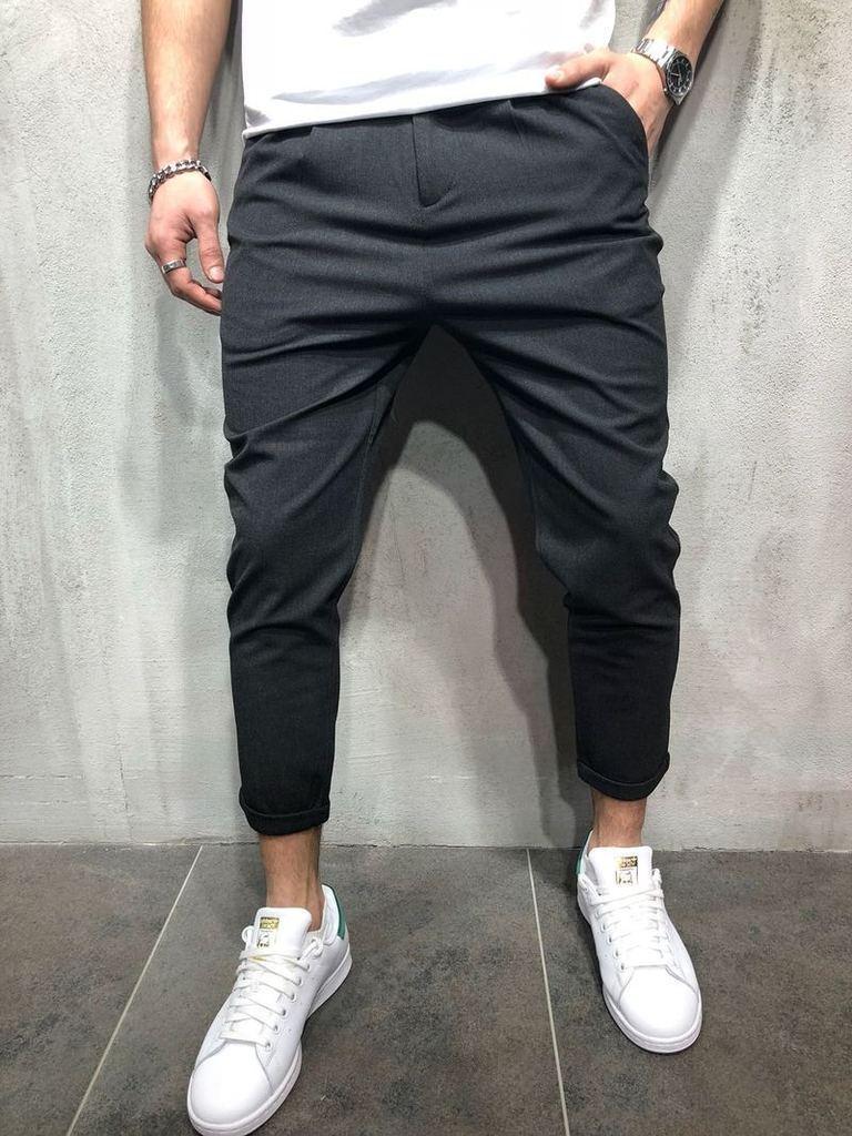 Pants Men 2018 New Brand Slim Fit Urban Straight Leg Fashion Trouser Casual Cargo Skinny Business Pants